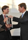 German Foreign Minister, Dr. Guido Westerwelle awards prize to R. Münscher